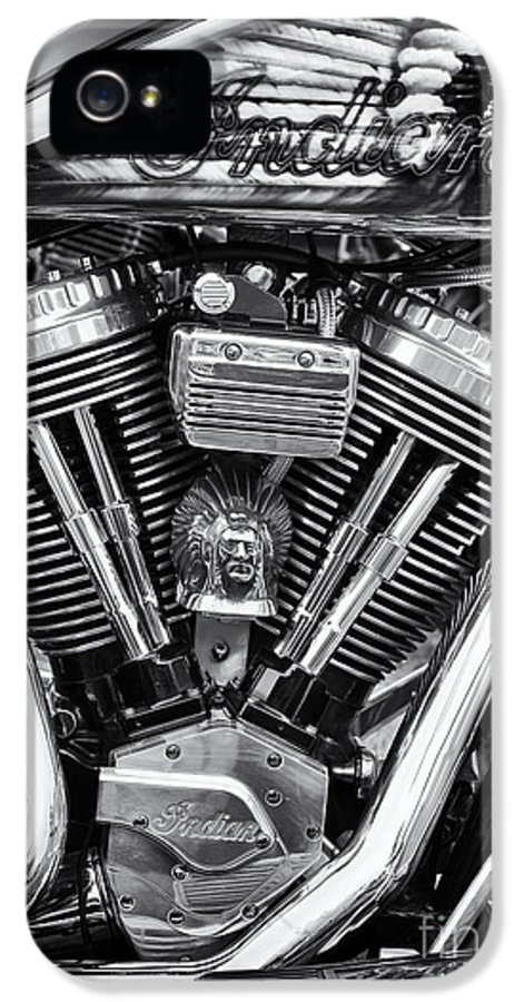 Indian Chief IPhone 5 Case featuring the photograph Indian Chief by Tim Gainey