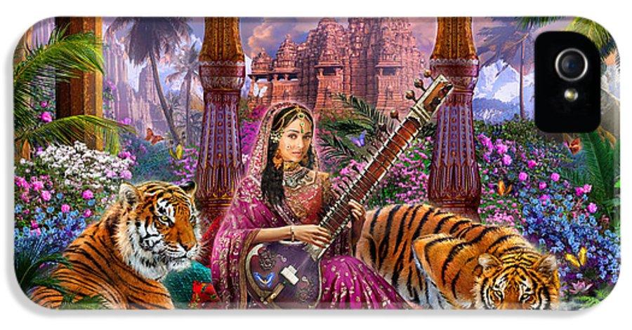 Adult IPhone 5 Case featuring the digital art Indian Harmony by Jan Patrik Krasny