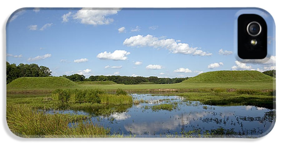 Moundville IPhone 5 Case featuring the photograph Indian Mounds In Moundville Alabama by Carol M Highsmith