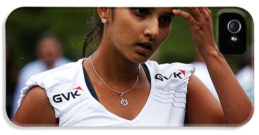 Tennis Player Sania Mirza IPhone 5 Case featuring the photograph Indian Tennis Player Sania Mirza by Nishanth Gopinathan