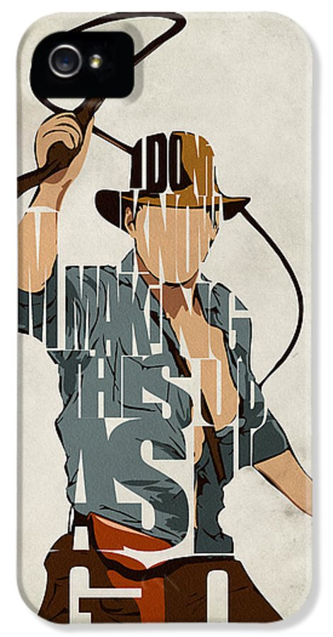 Indiana Jones IPhone 5 Case featuring the painting Indiana Jones - Harrison Ford by Ayse Deniz
