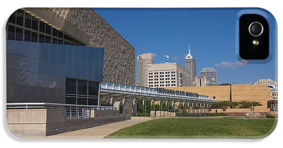 Indy 500 IPhone 5 Case featuring the photograph Indiana State Museum And Indianapolis Skyline by David Haskett