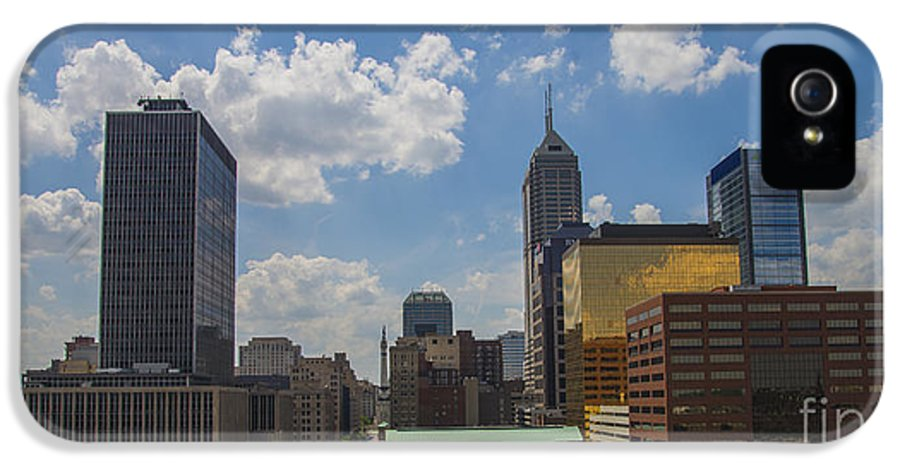 Indy 500 IPhone 5 Case featuring the photograph Indianapolis Skyline June 2013 by David Haskett