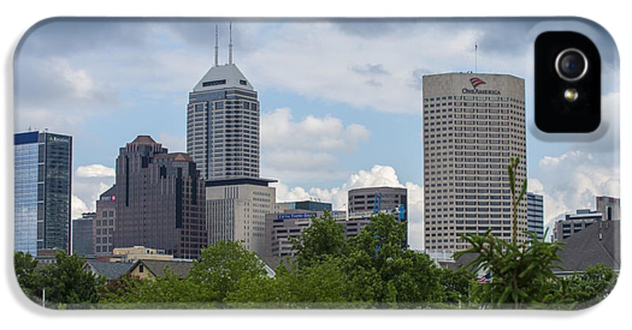 Indy 500 IPhone 5 Case featuring the photograph Indianapolis Skyline Storm 3 by David Haskett