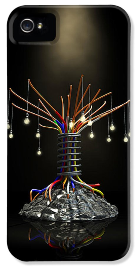 Tree IPhone 5 Case featuring the digital art Industrial Future Tree by Allan Swart