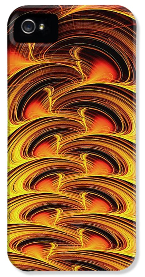 Computer IPhone 5 Case featuring the digital art Inferno by Anastasiya Malakhova