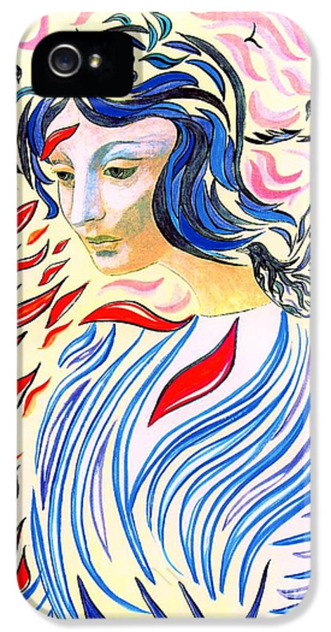 Mystical IPhone 5 Case featuring the painting Inner Peace by Jane Small