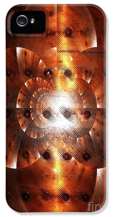 Digital Art IPhone 5 Case featuring the digital art Inner Strength - Abstract Art by Carol Groenen