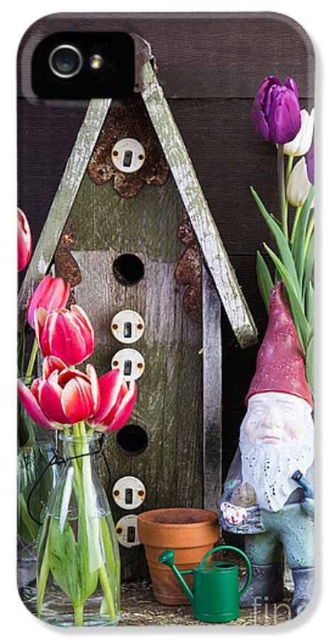 Barn IPhone 5 Case featuring the photograph Inside The Garden Shed by Edward Fielding
