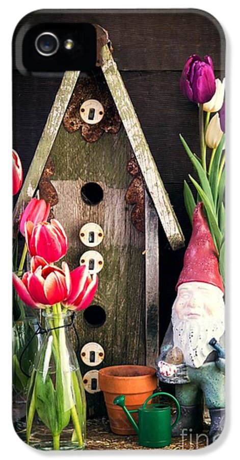 Barn IPhone 5 Case featuring the photograph Inside The Potting Shed by Edward Fielding
