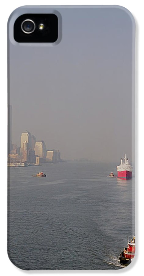 New York City IPhone 5 Case featuring the photograph Into Port by Joann Vitali