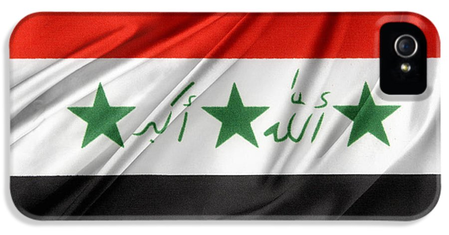 Banner IPhone 5 Case featuring the photograph Iraq Flag by Les Cunliffe