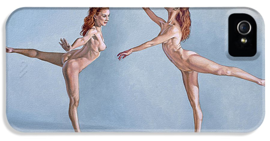 Figure IPhone 5 Case featuring the painting Irina Dancing by Paul Krapf
