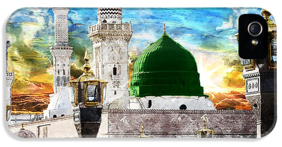 Islamic IPhone 5 Case featuring the painting Islamic Painting 004 by Catf