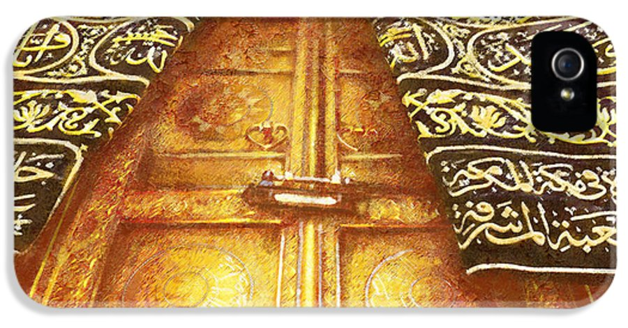 Islamic IPhone 5 Case featuring the painting Islamic Painting 008 by Catf