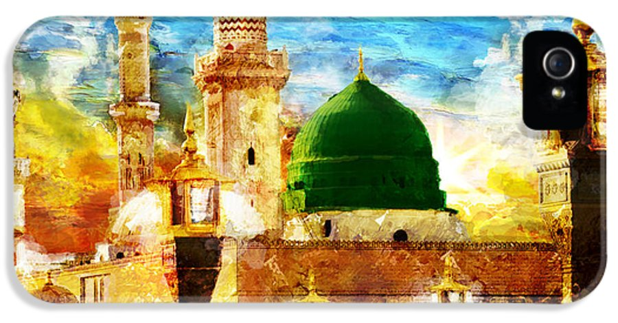 Islamic IPhone 5 Case featuring the painting Islamic Paintings 005 by Catf