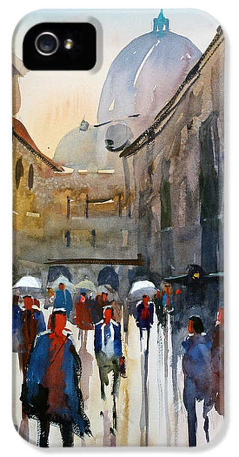 Ryan Radke IPhone 5 Case featuring the painting Italian Impressions 5 by Ryan Radke