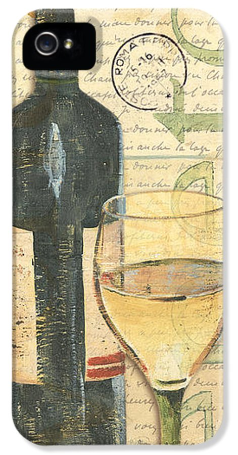 Wine IPhone 5 Case featuring the painting Italian Wine And Grapes 1 by Debbie DeWitt