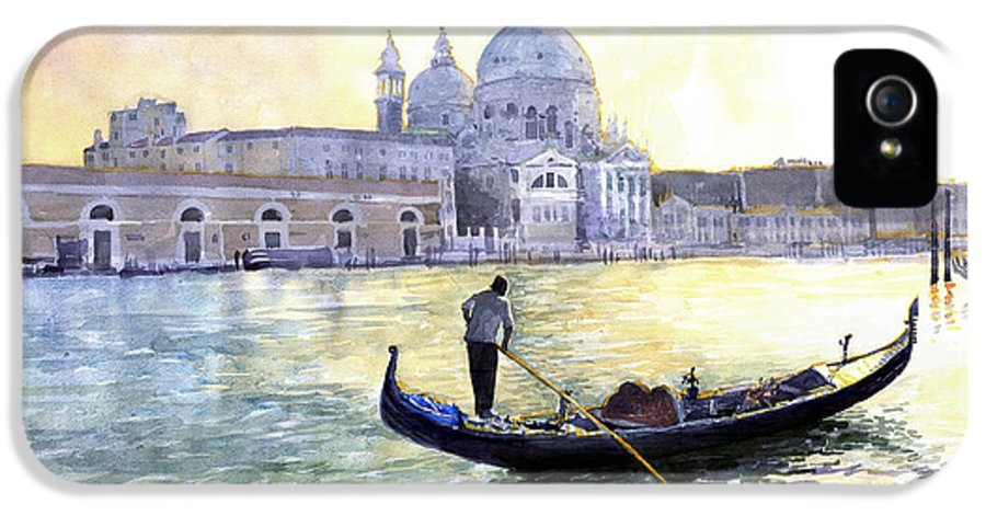 Watercolor IPhone 5 / 5s Case featuring the painting Italy Venice Morning by Yuriy Shevchuk