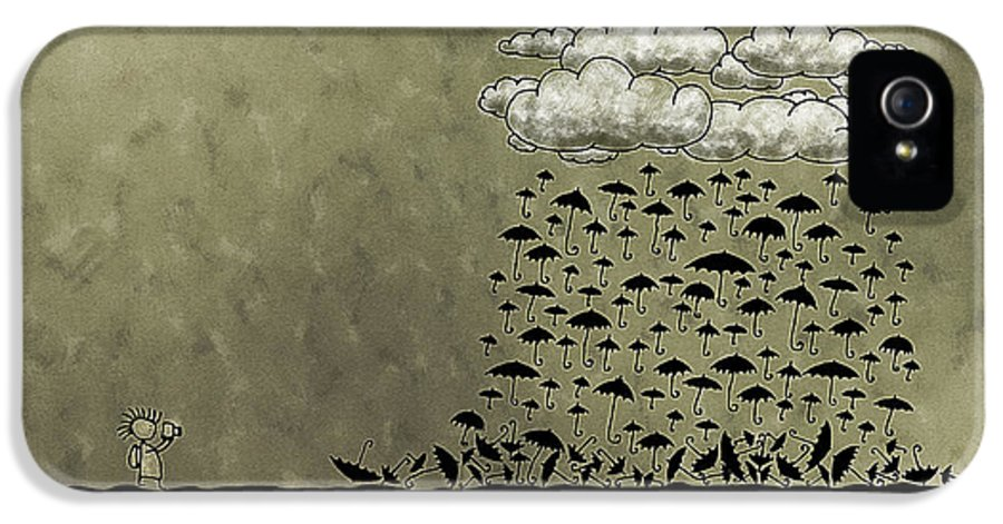 Rain IPhone 5 Case featuring the photograph It's Raining Umbrellas by Gianfranco Weiss
