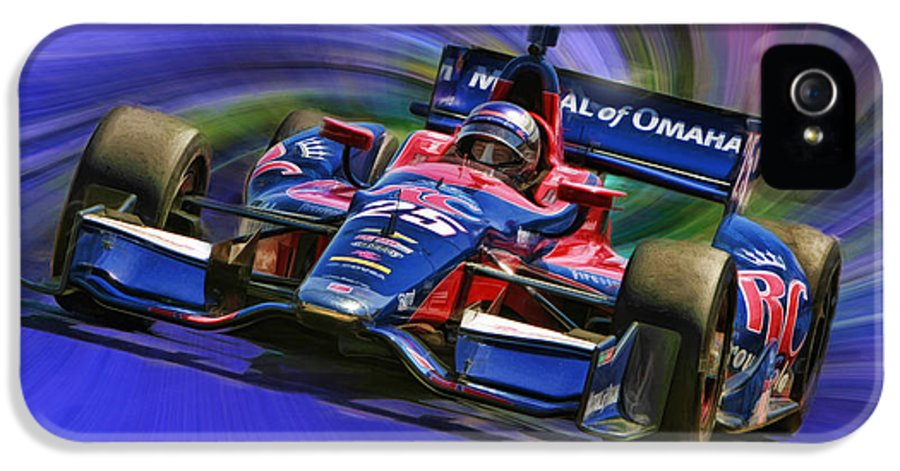 Indycar Series IPhone 5 Case featuring the photograph Izod Indycar Series Marco Andretti by Blake Richards