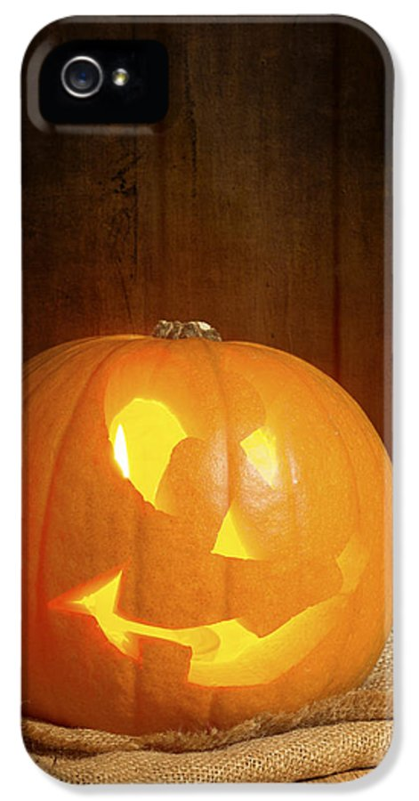 Pumpkin IPhone 5 Case featuring the photograph Jack O Lantern by Amanda Elwell