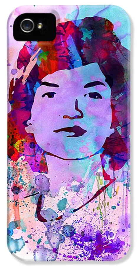 Jackie Kennedy IPhone 5 Case featuring the painting Jackie Kennedy Watercolor by Naxart Studio