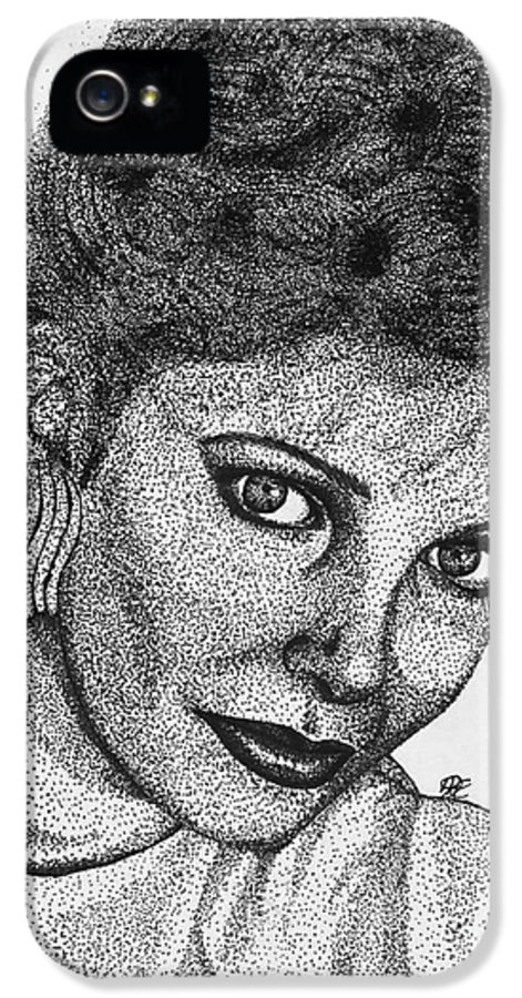 Mccombie IPhone 5 Case featuring the drawing Jaclyn Smith In 1985 by J McCombie