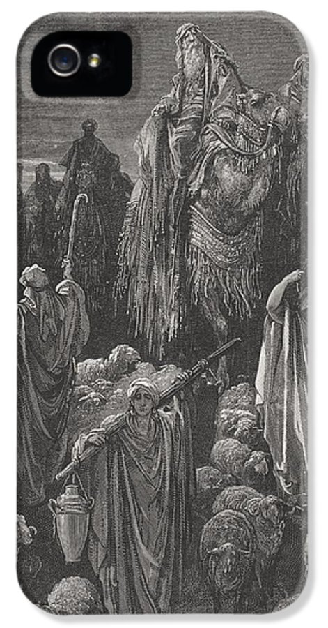 Famine IPhone 5 Case featuring the painting Jacob Goeth Into Egypt by Gustave Dore