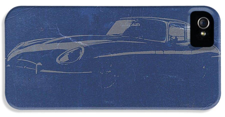 Jaguar E Type IPhone 5 Case featuring the photograph Jaguar E Type by Naxart Studio