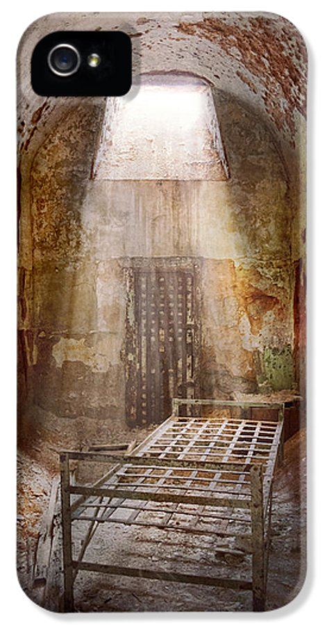 Jail IPhone 5 Case featuring the photograph Jail - Eastern State Penitentiary - 50 Years To Life by Mike Savad