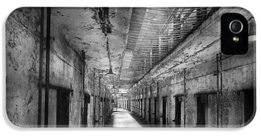 Jail IPhone 5 Case featuring the photograph Jail - Eastern State Penitentiary - The Forgotten Ones by Mike Savad