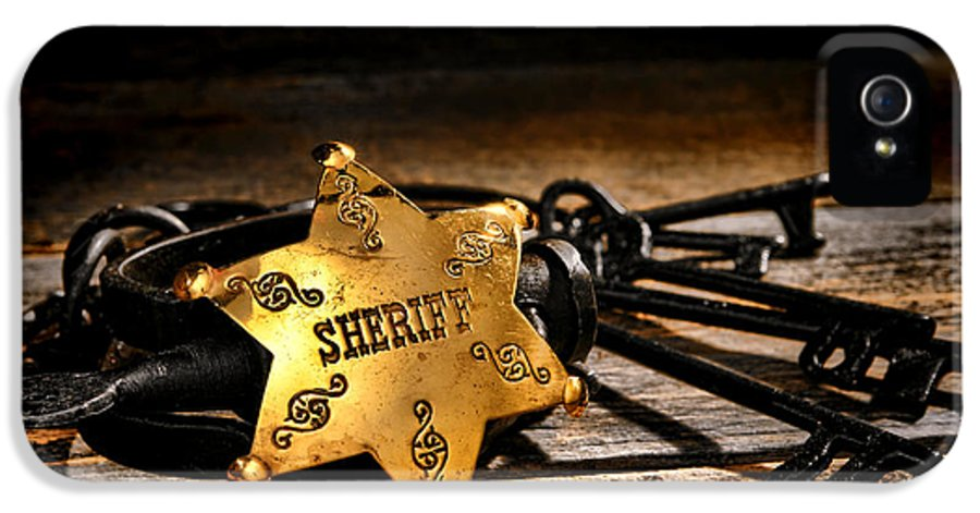 Sheriff IPhone 5 Case featuring the photograph Jailer Tools by Olivier Le Queinec