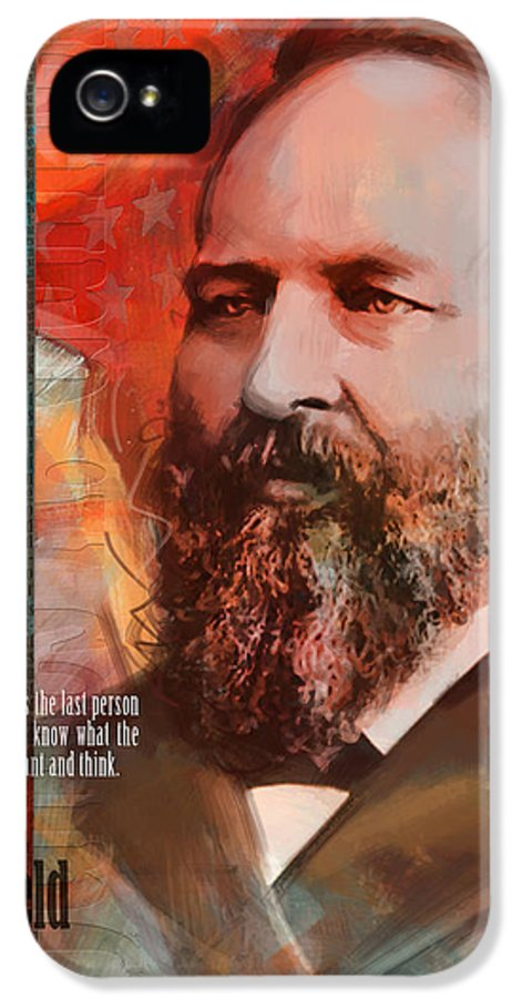 James A Garfield IPhone 5 Case featuring the painting James A. Garfield by Corporate Art Task Force