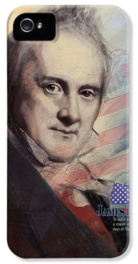 James Buchanan IPhone 5 Case featuring the painting James Buchanan by Corporate Art Task Force