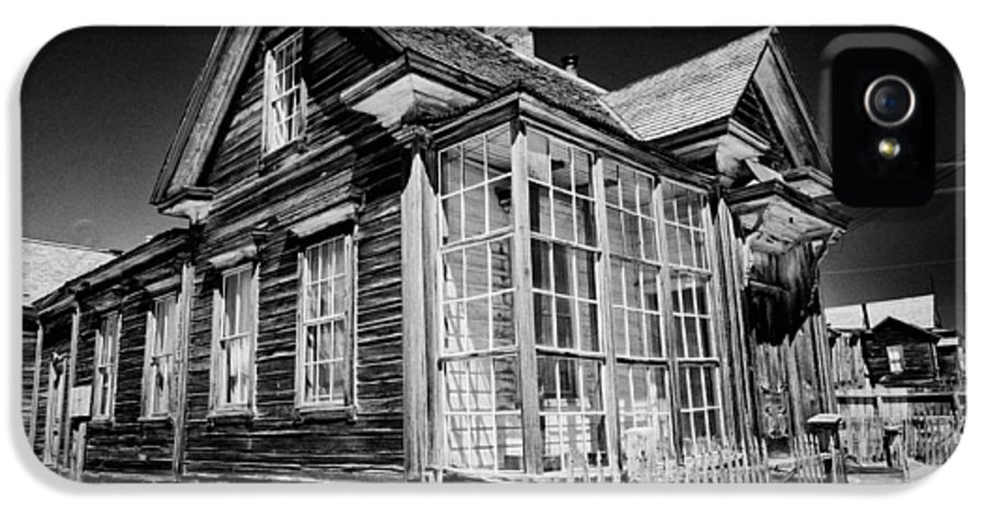 Black IPhone 5 Case featuring the photograph James Cain House by Cat Connor