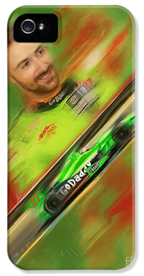 James Hinchcliffe IPhone 5 Case featuring the photograph James Hinchcliffe by Blake Richards
