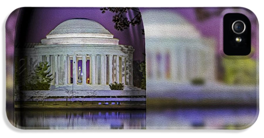 Thomas Jefferson Memorial IPhone 5 Case featuring the photograph Jefferson Memorial In A Bottle by Susan Candelario