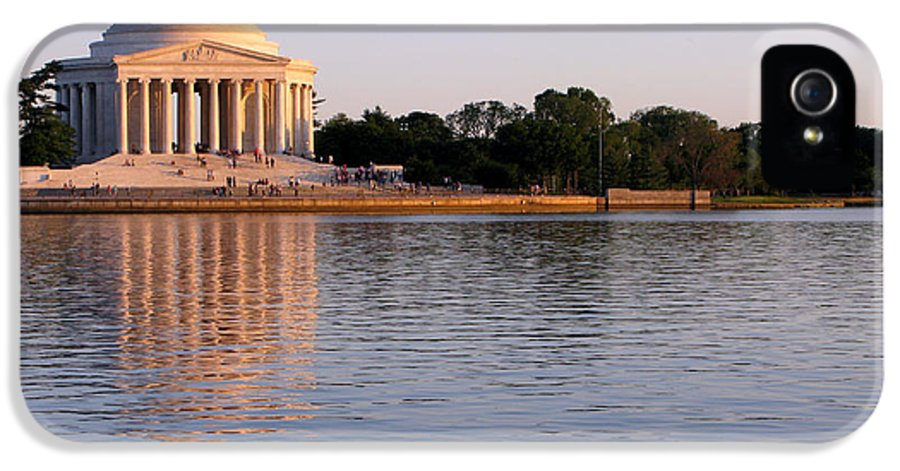 Washington IPhone 5 Case featuring the photograph Jefferson Memorial by Olivier Le Queinec
