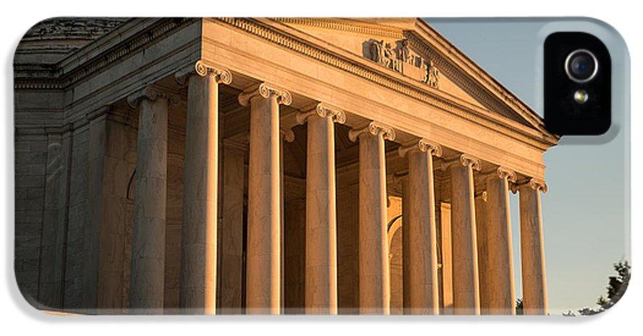 Jefferson IPhone 5 Case featuring the photograph Jefferson Memorial Sunset by Steve Gadomski