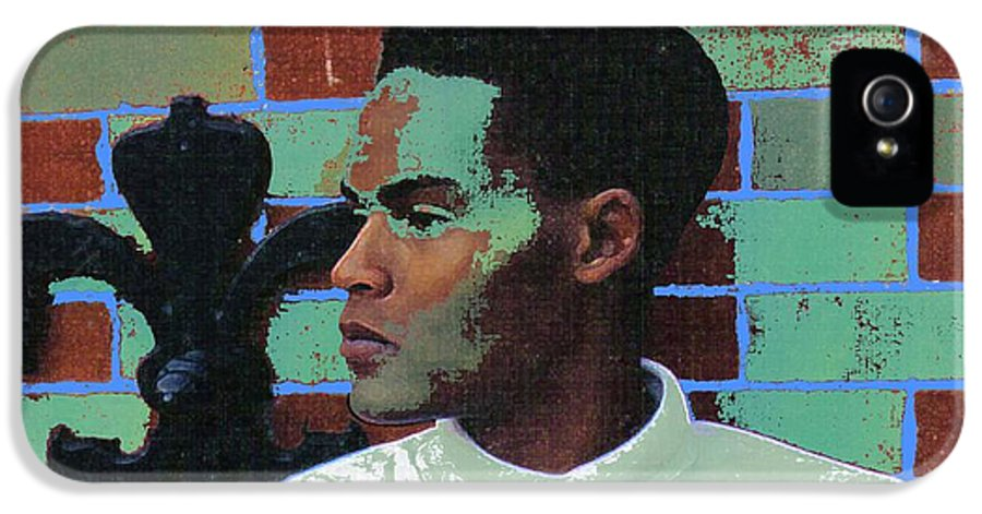 Fine Art IPhone 5 Case featuring the painting Jeffrey Burton Fisher 1989 by Feile Case