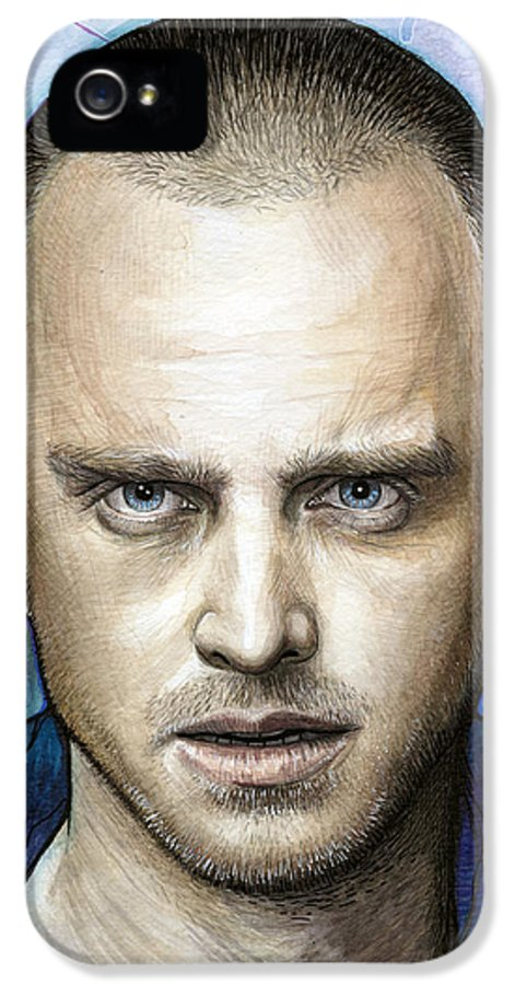 Breaking Bad IPhone 5 / 5s Case featuring the painting Jesse Pinkman - Breaking Bad by Olga Shvartsur
