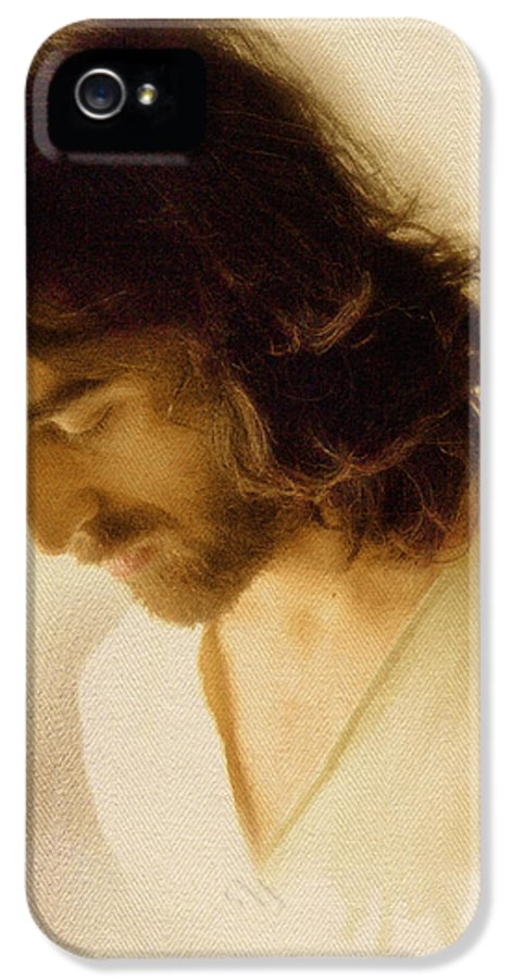 Jesus IPhone 5 Case featuring the digital art Jesus Praying by Ray Downing