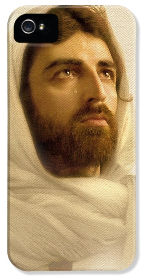 Jesus IPhone 5 Case featuring the digital art Jesus Wept by Ray Downing