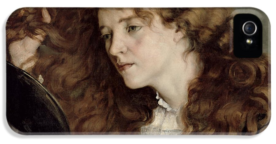 Josephine IPhone 5 Case featuring the painting Jo The Beautiful Irish Girl by Gustave Courbet
