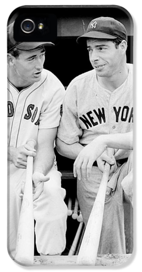 Joe IPhone 5 Case featuring the photograph Joe Dimaggio And Ted Williams by Gianfranco Weiss