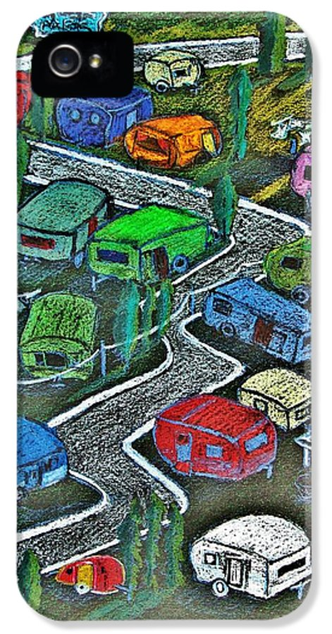Color Pencil IPhone 5 Case featuring the painting Joes Happy Trailer Park by Joseph Hawkins
