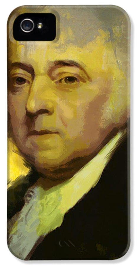John Adams IPhone 5 Case featuring the painting John Adams by Corporate Art Task Force