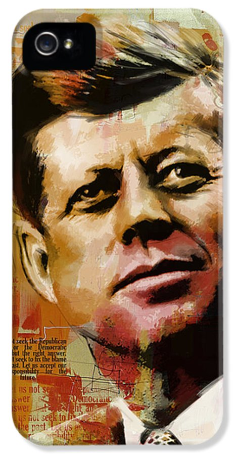 Jfk IPhone 5 Case featuring the painting John F. Kennedy by Corporate Art Task Force