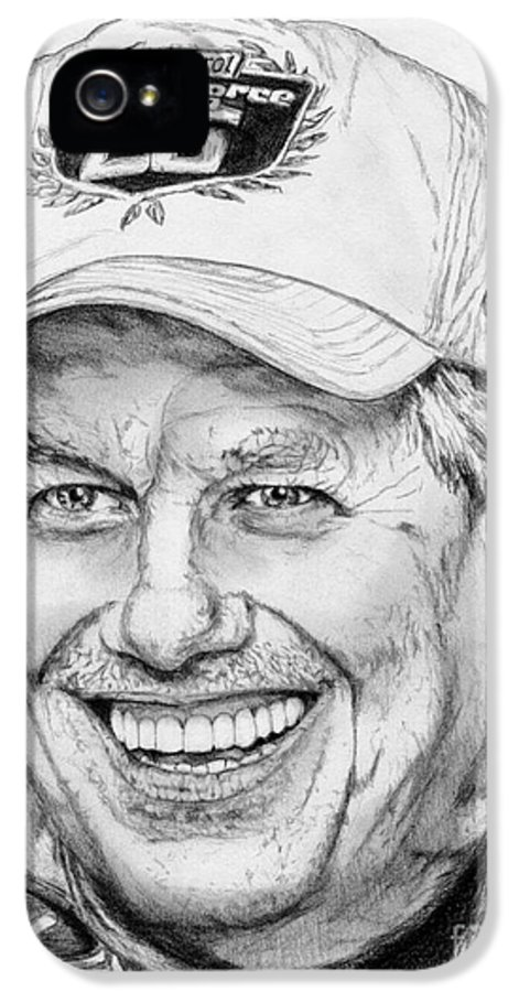 Mccombie IPhone 5 Case featuring the drawing John Force In 2010 by J McCombie